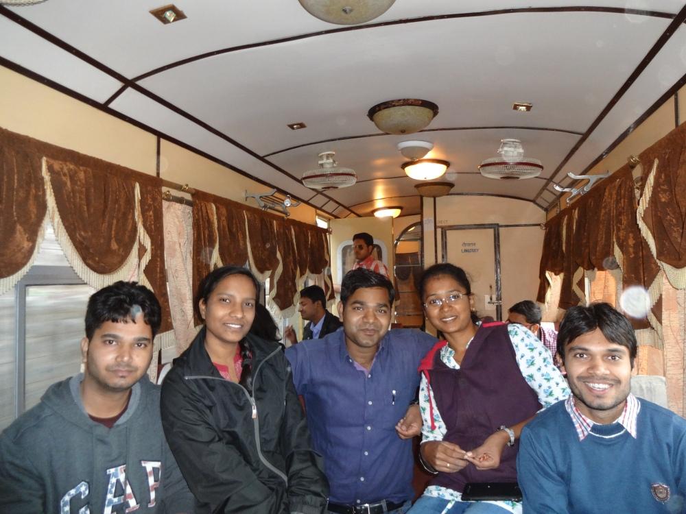 Inside Kalka-Shimla Toy Train